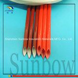 Gummi-überzogene Glasfaser-Sleeving Silikon-Fiberglas-Hülsen des Silikon-4.0kv