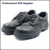 Zapatos de seguridad de goma del cuero partido de S1p Outsole con precio bajo