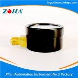 Caso Negro manómetro de acero Escala marcación doble de tres colores para la Atención