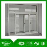 Двойное стекло и Низкое-E стеклянное сползая окно UPVC