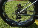Vélo électrique d'alliage de poids léger avec Shimano Derailleur et gros pneu