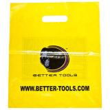 Gedruckte LDPE-Träger gestempelschnittene Griff-Beutel für Supermärkte (FLD-8564)
