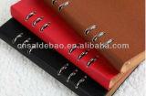 A5 caderno Loose-Leaf, caderno das pastas de anel, caderno de couro