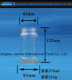 Frasco de vidro gravado de teste padrão para salmouras e mel