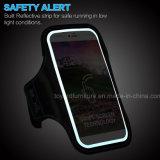 Melhor universal 5.5 polegadas fita impermeável do telefone de 4.7 esportes do saco protetor do telefone da polegada com o reflexivo na noite