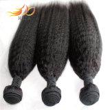 ねじれたまっすぐな8A加工されていないマレーシアのバージンの人間の毛髪の織り方