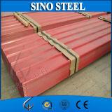 Folha ondulada galvanizada Prepainted da telha de telhado do ferro do metal da telhadura