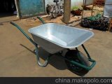 Wheelbarrow (WB6414T) com bandeja do zinco
