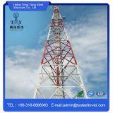 Auto - torre angular de apoio do aço de uma comunicação