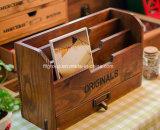 ينزلق غطاء تصميم كلاسيكيّة خشبيّة خمر صندوق