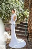 Da sereia longa dos vestidos de noite do casamento da luva da forma vestidos nupciais Z2066