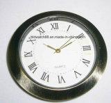 Reloj del metal del cuarzo analogico de la promoción el pequeño inserta 37m m