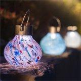 Lanterne s'arrêtante solaire extérieure de thé de bille en verre de jardin