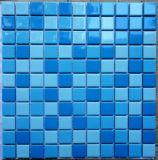 Azulejo de mosaico de cerámica azul para el cuarto de baño de la piscina