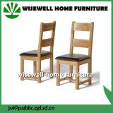 Solid Oak Ladder Back Cadeira de jantar de couro