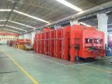 Máquina de la banda transportadora y prensa hidráulica