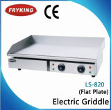 Plancha eléctrica plana superior contraria comercial del acero inoxidable