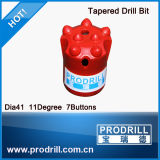 Diametro 34mm-43mm 4, 7, 8 Buttons, 7, 11, 12 Degree Tungsten Carbide Taper Button Drill Bits per Quarry