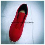 De Schoen van de Sport van de rode Kleur voor Vrouw met de Zool van pvc en het Bovenleer van het Canvas