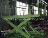 هيدروليّة قصصت مرفع شحن مصعد لأنّ مصنع