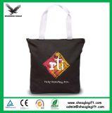 Оптовым напечатанный логосом черный мешок Tote холстины