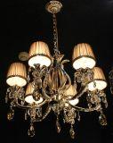 Iluminación pendiente de la decoración cristalina clara moderna con la luz Phine pH-0814z 6 6~8~15arms de la lámpara de la lámpara del dispositivo de la cortina de la tela