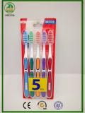 heiße Familien-Erwachsen-Zahnbürste der Verkaufs-5-PC