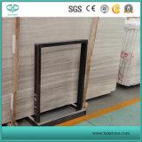 白い木の穀物または静脈の大理石、Serpeggianteの白い平板またはタイルまたはカバーまたはまわりを回るか、またはパターン大理石