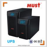 C.C 2kVA à l'UPS en ligne à C.A. d'écran LCD pur d'onde sinusoïdale