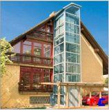 Ascenseur à la maison en verre guidé extérieur bon marché/levage résidentiel