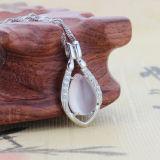 &rsquor женщин; Ожерелье Teardrop стерлингового серебра s 925 форменный привесное с цепью