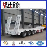 3 차축 반 60 톤 낮은 침대 트럭 트레일러