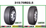 Fait dans des pneus de goujons de pneu en caoutchouc de la Chine pour moins de pneus diriger 315 70r22.5 le pneu Thaïlande