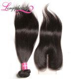 Волосы бразильянина девственницы верхнего популярного закрытия сырцовые Unprocessed