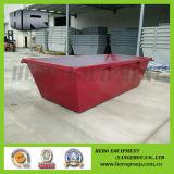 5m Ruby Red Stackable Waste Skip Bins Pas de porte