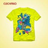 快適な染料の昇華Tシャツ、良質のTシャツ、CrewneckのカスタムTシャツ