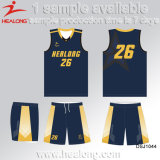 Healong volle Farben-Sublimation-Basketball-Jersey-Uniformen