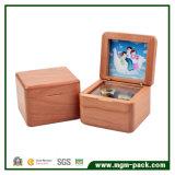 Коробка нот твердой древесины высеканная с картинной рамкой