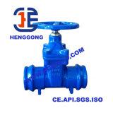 Soupape à vanne industrielle à flasque de cheminée d'élévation de fer de moulage d'API/ANSI