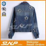 Frauen-Spitzenjeans-Mantel-Denim-Jacken-Großverkauf-Kleidung