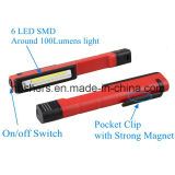 2W clip magnétique de lumière de travail de poche de lumière de travail de crayon lecteur de l'ÉPI DEL