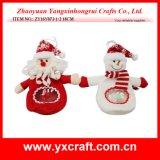 クリスマスの装飾(ZY14Y165-1-2-3) PVC/Pet/PPのプラスチックWindowsのクリスマスキャンデー袋の装飾
