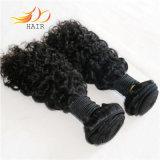 ジェリーのカールの毛のよこ糸100%のペルーのRemyの毛の自然なカラー