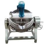 Caldera vestida de cocinar eléctrica industrial del mezclador doble de la calefacción de vapor