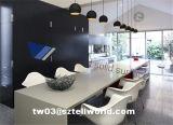 Tabella pranzante commerciale bianca di disegno moderno, tavolino da salotto, Tabella del ristorante