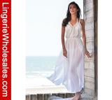 El traje de baño blanco del alto diseñador de moda cubre para arriba la alineada de Long Beach