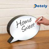 La main de bulle de la parole sauvent à DEL le cadre léger doux à la maison