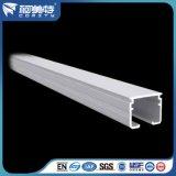 Perfil de alumínio branco do revestimento 6063t5 do pó do OEM para o trilho de cortina