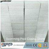 Pierres satisfaisantes blanches Cut-to-Size de piscine de grès de forme en pierre