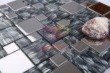 絹によって支持される水晶組合せのステンレス鋼の金属のモザイク・タイル(CFM844)